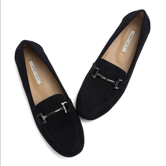 Anna Kastle Womens Black Penny Loafers